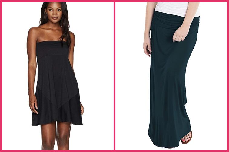 Hybrid & Company Fold Over Maxi Skirt Travel Dress; Courtesy of Amazon