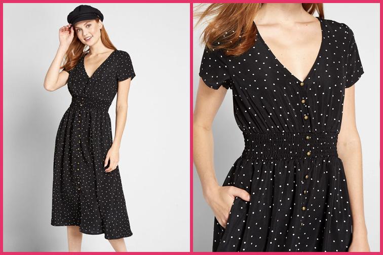 Inspired Anytime Midi Travel Dress; Courtesy of ModCloth