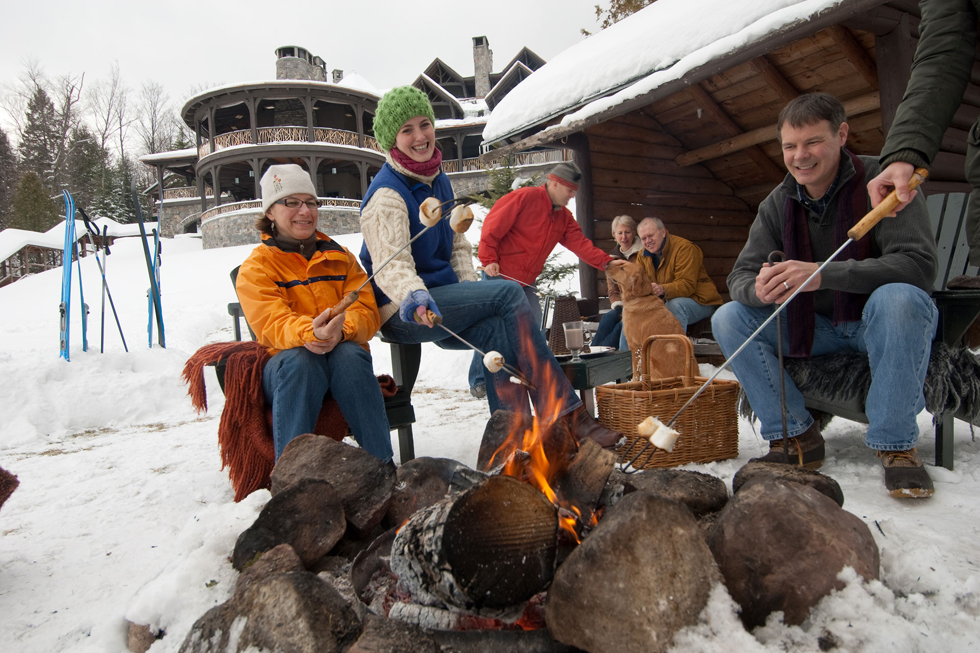 Bonfire at Lake Placid Lodge; Courtesy of Lake Placid Lodge
