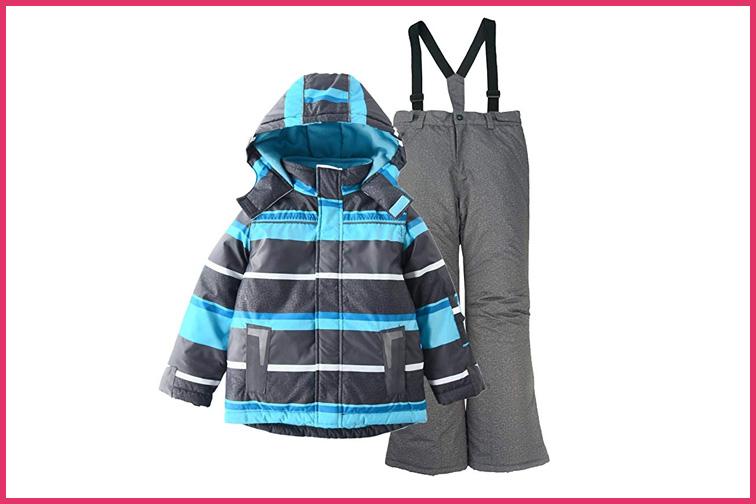 M2C Girls Thicken Warm Hooded Ski Snowsuit Jacket /& Pants