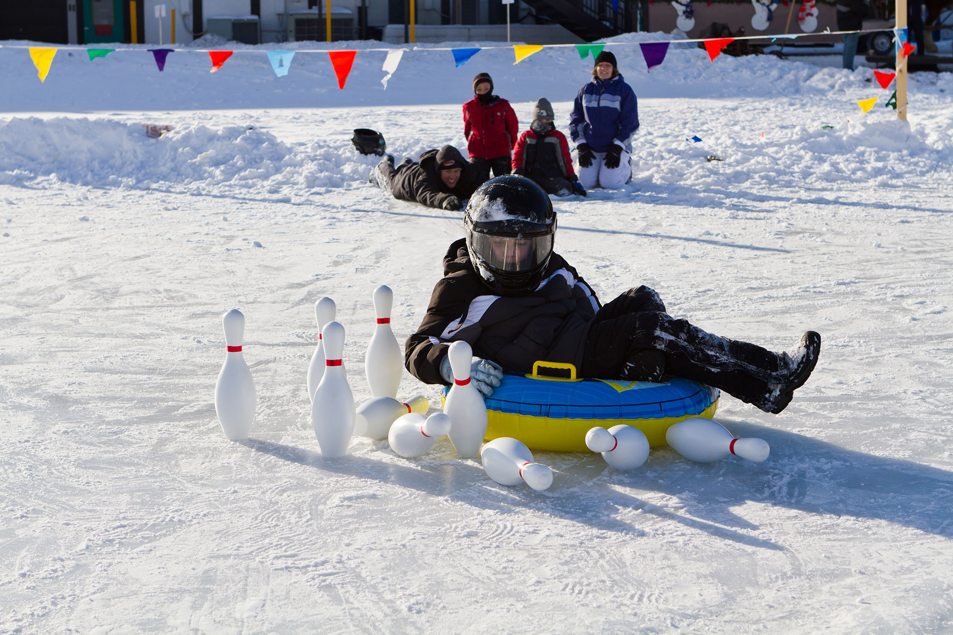 Snow Bowling at Cragun's Resort; Courtesy of Cragun's Resort on Gull Lake