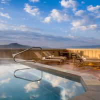 Rooftop Hot Tub at Teton Mountain Lodge & Spa; Courtesy of Teton Mountain Lodge & Spa