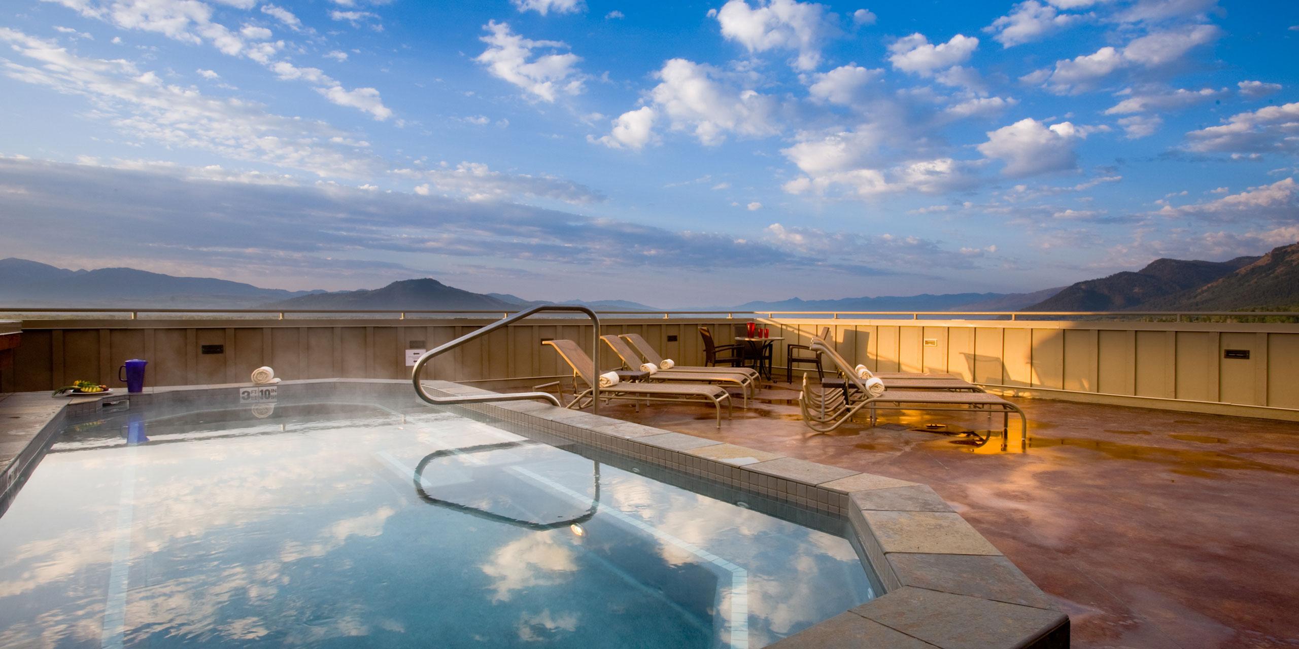 Rooftop Hot Tub at Teton Mountain Lodge & Spa; Courtesy of Teton Mountain Lodge & Spa