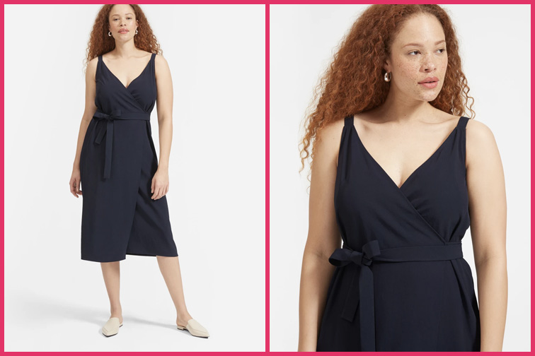 The Japanese GoWeave Wrap Travel Dress; Courtesy of Everlane