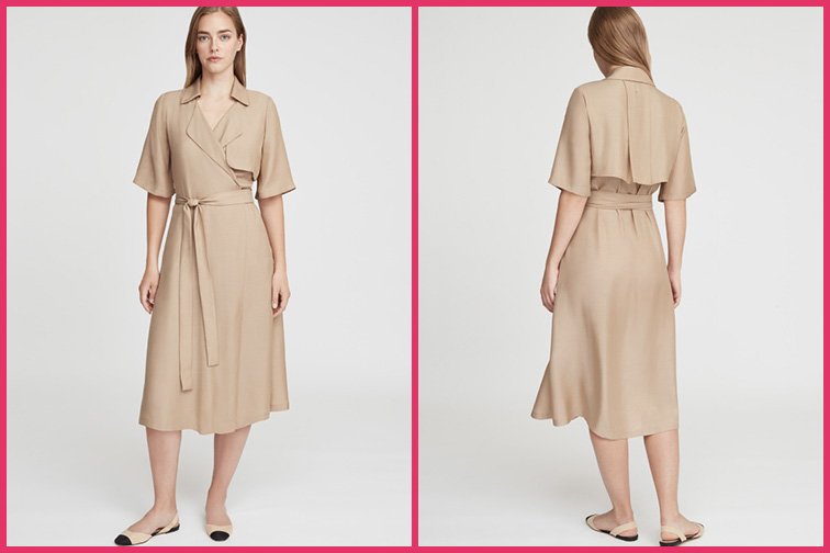 Trench Wrap Travel Dress; Courtesy of Cuyana