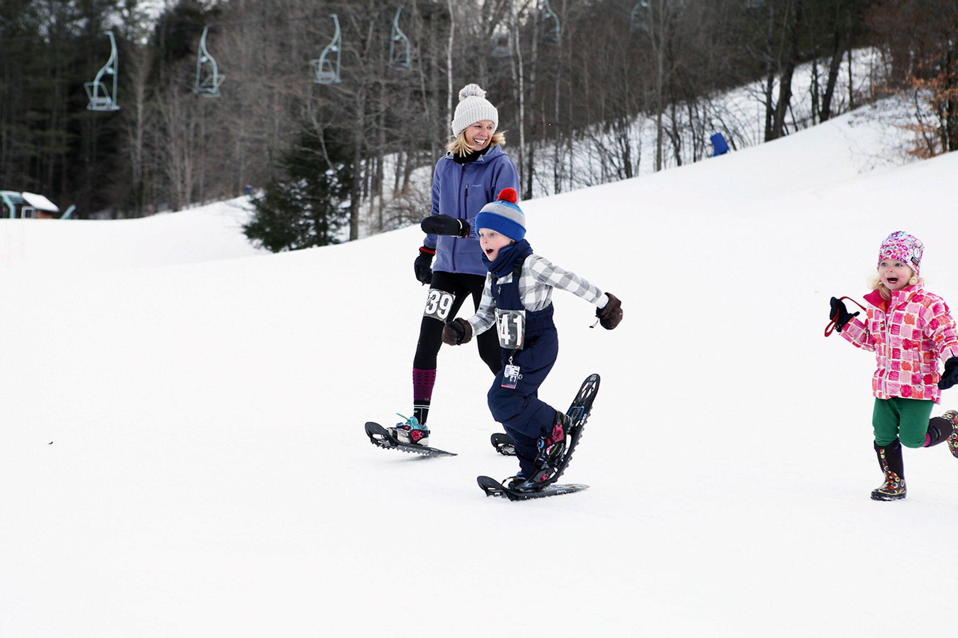 Snowshoeing at Woodstock Inn in Vermont