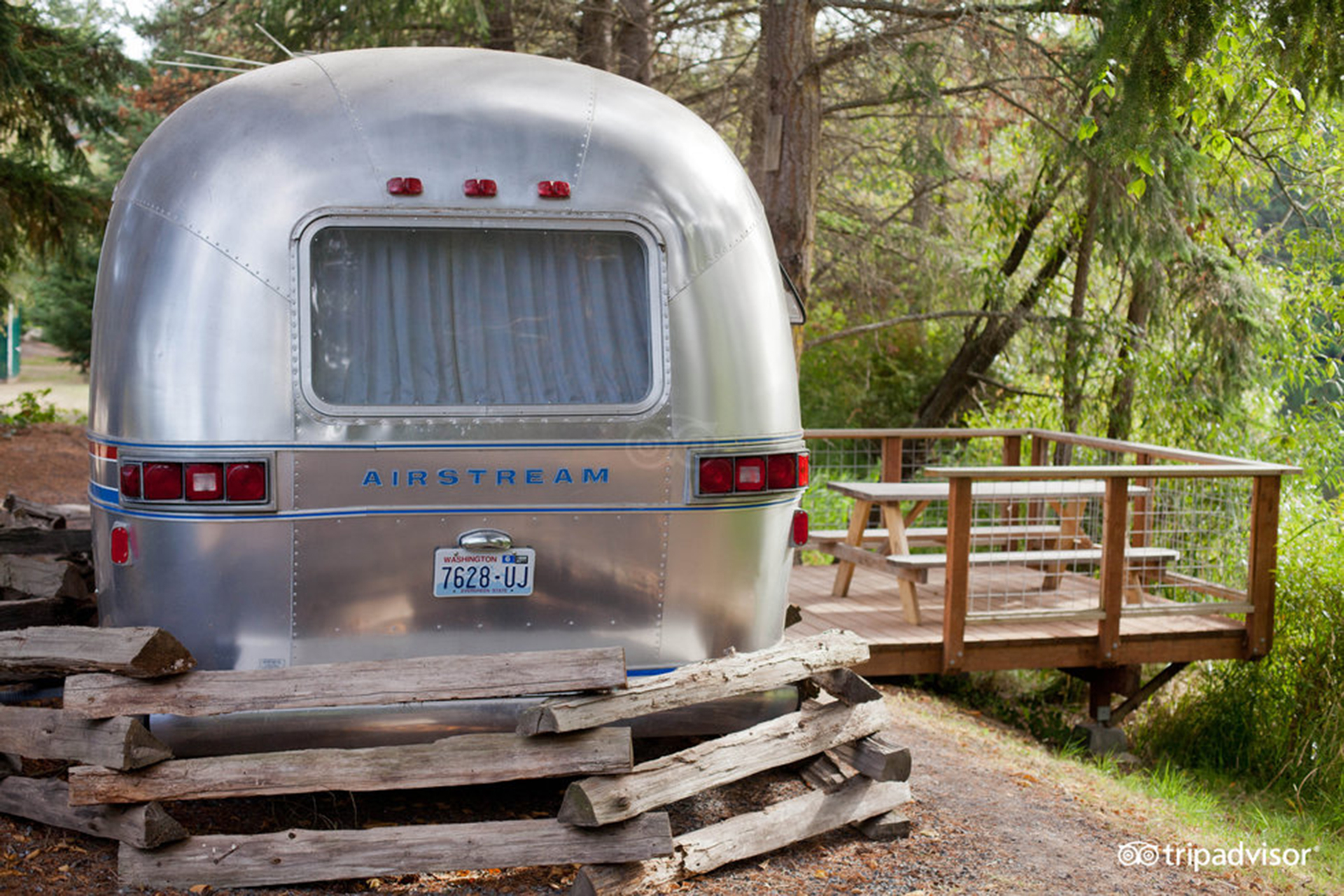 Airstream Trailer at Lakedale Resort at Three Lakes in the San Juan Island