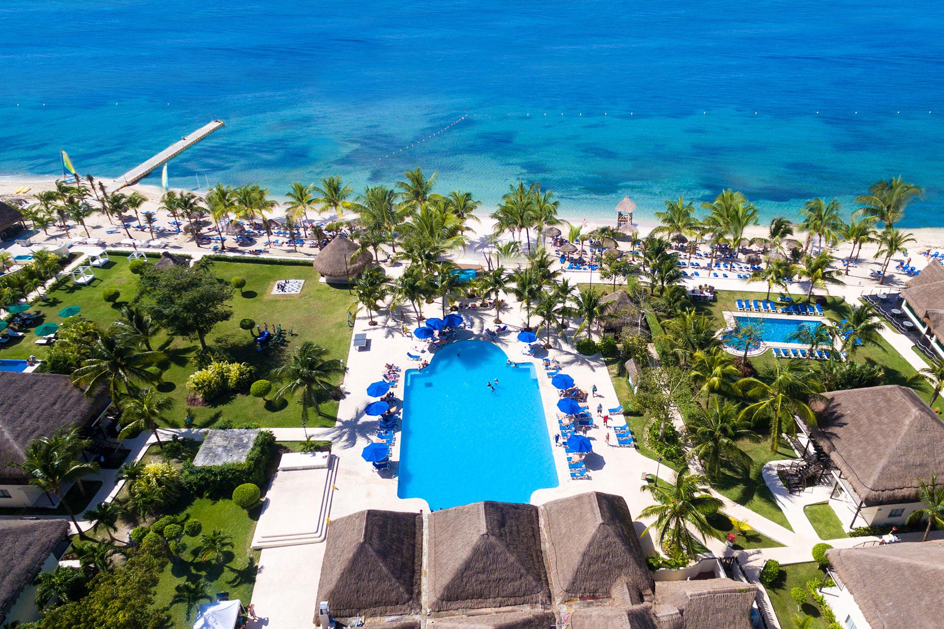 Aerial View of Allegro Cozumel; Courtesy of Allegro Cozumel