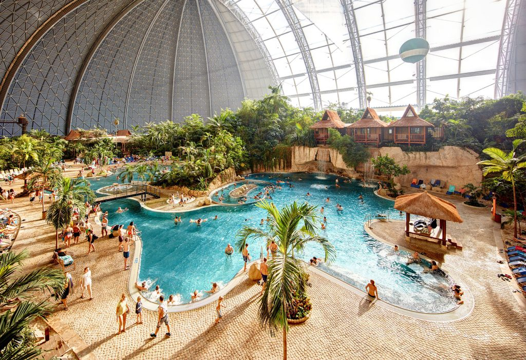 Tropical Islands' AMAZONIA in Brandenburg, Germany; Courtesy of Tropical Islands'