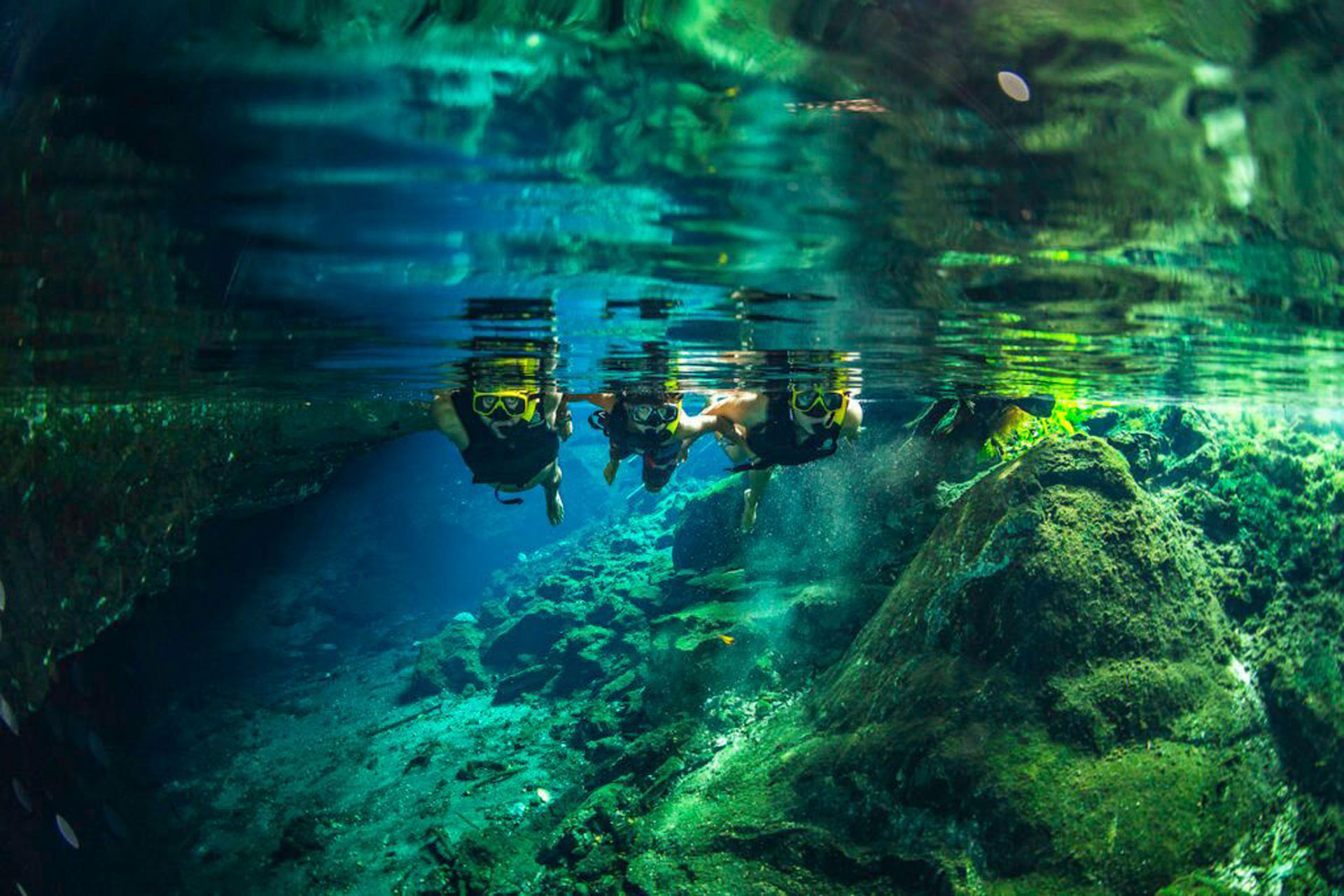 Cave Snorkeling in Tulum, Mexico; Courtesy of AllTournative