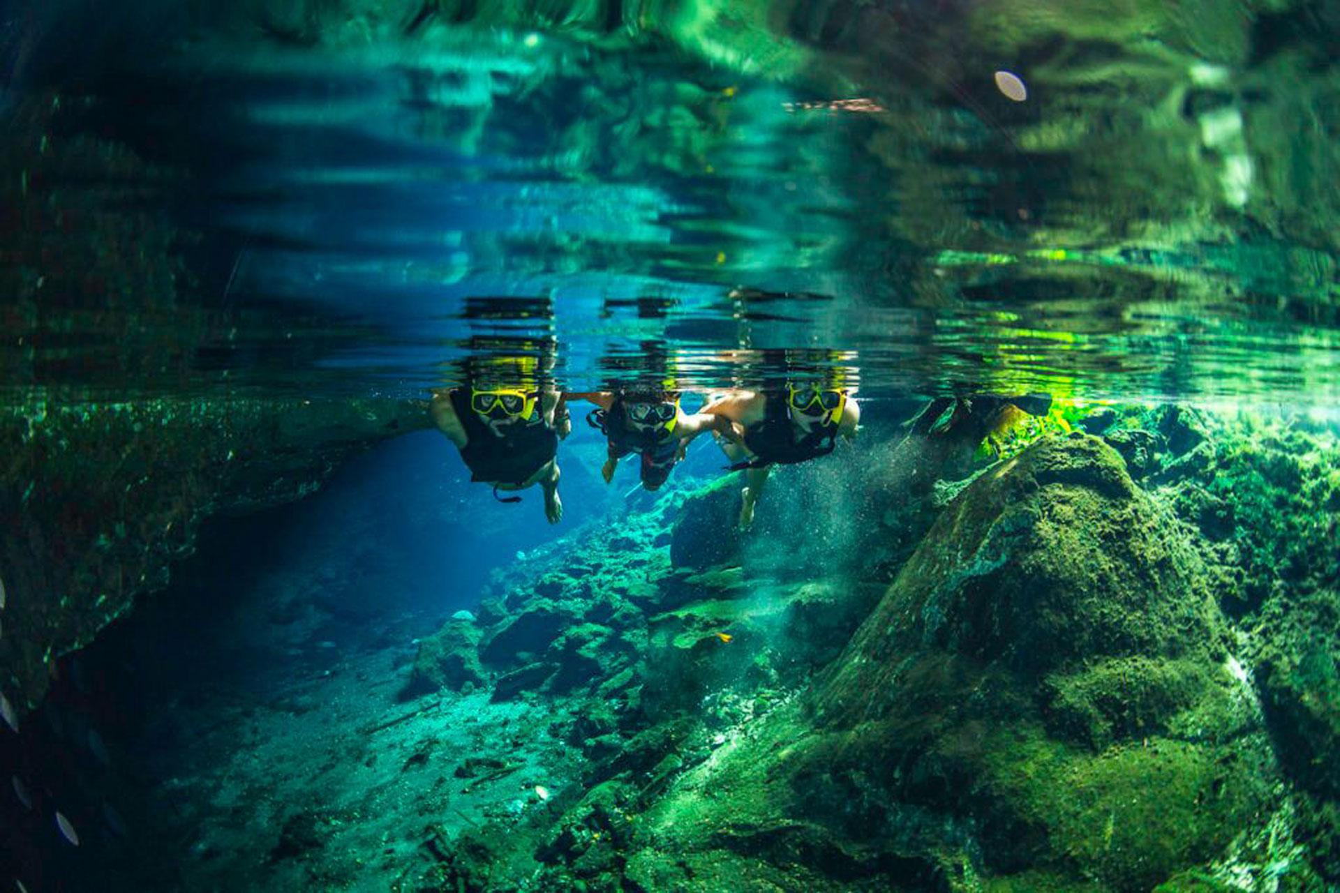 Cave Snorkeling in Tulum, Mexico; Courtesy of AllTournative