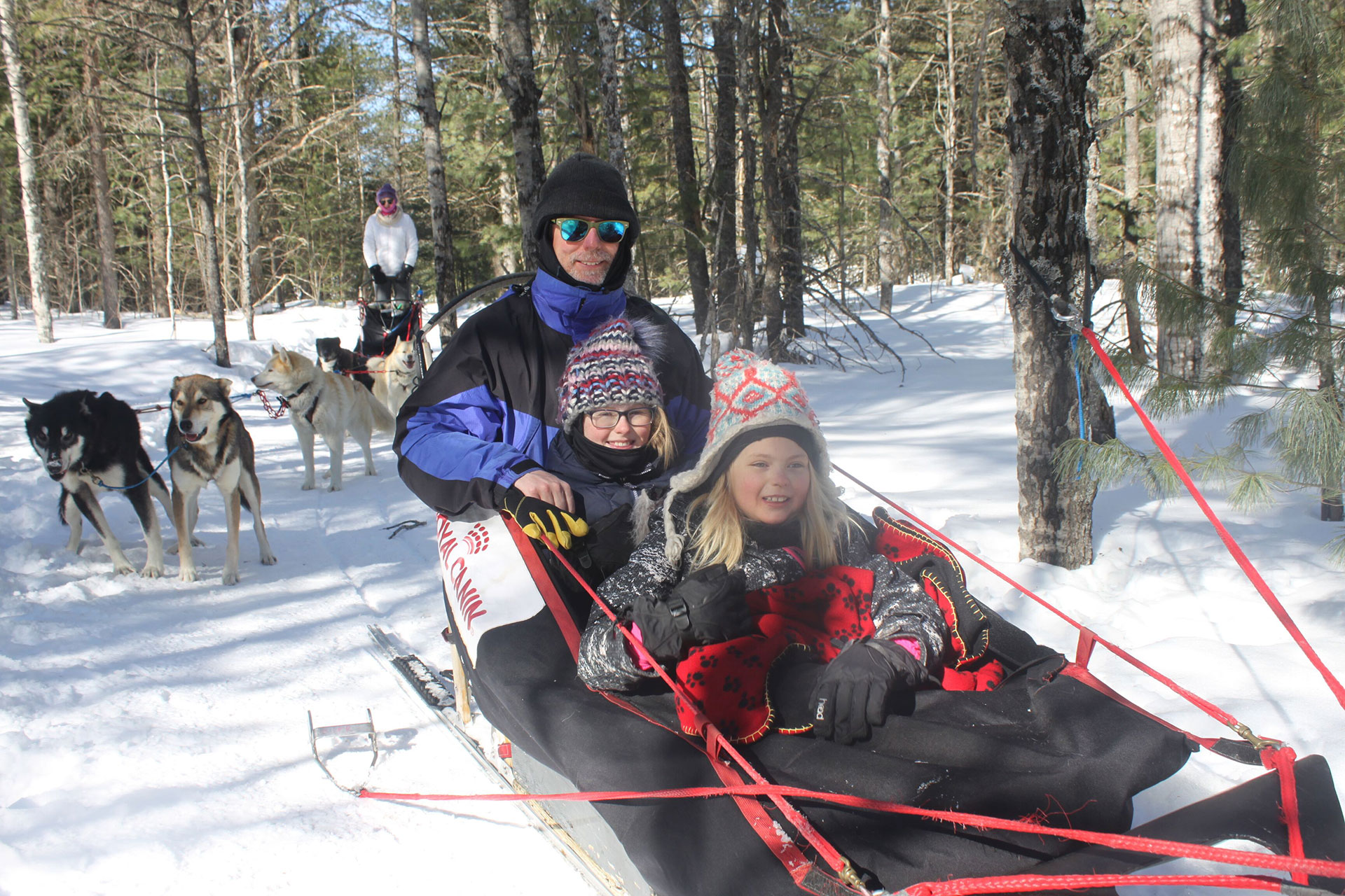 Dog Sledding in Michigan; Courtesy of Nature's Kennel