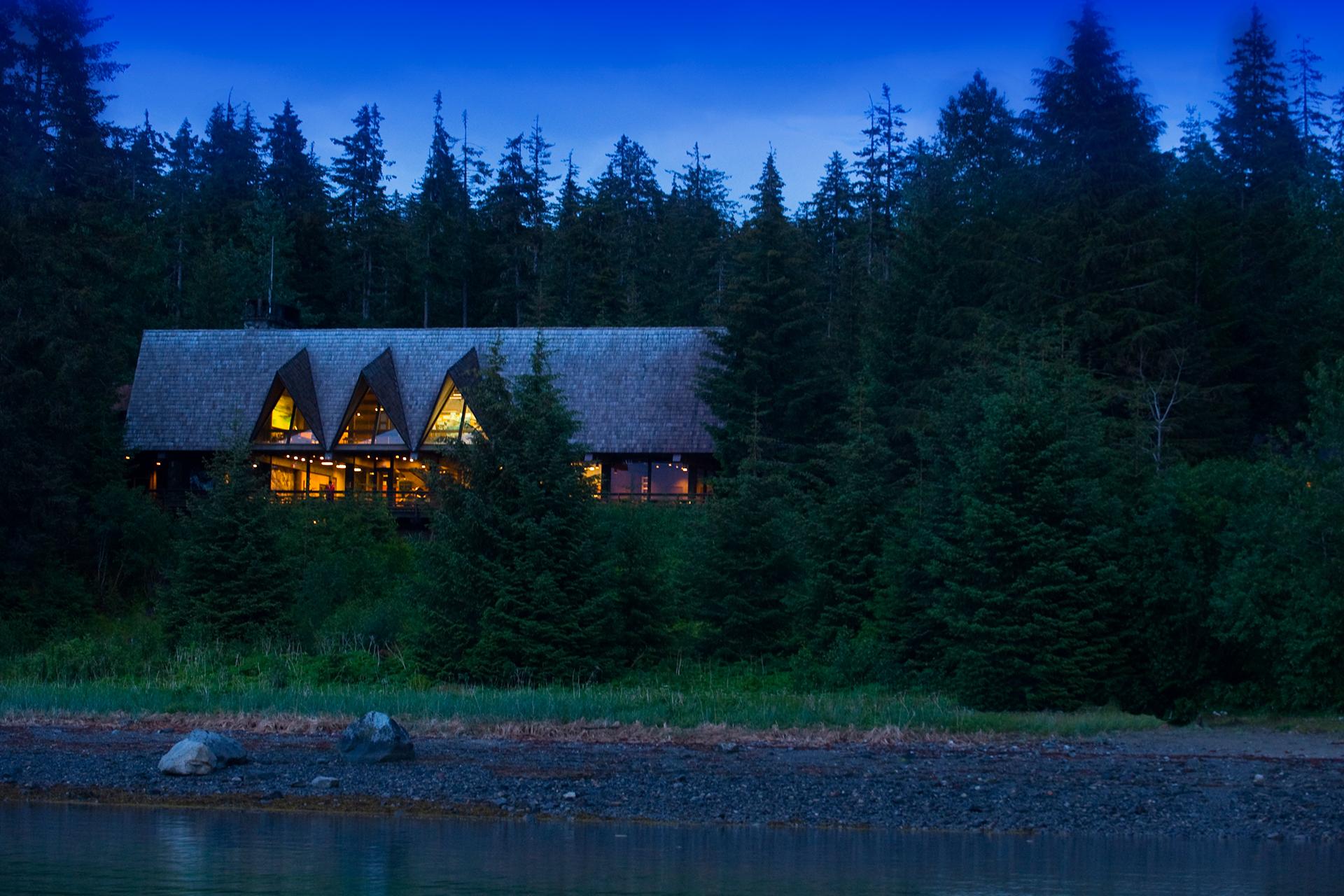 Glacier Bay Lodge in Glacier Bay National Park and Preserve; Courtesy of Glacier Bay Lodge