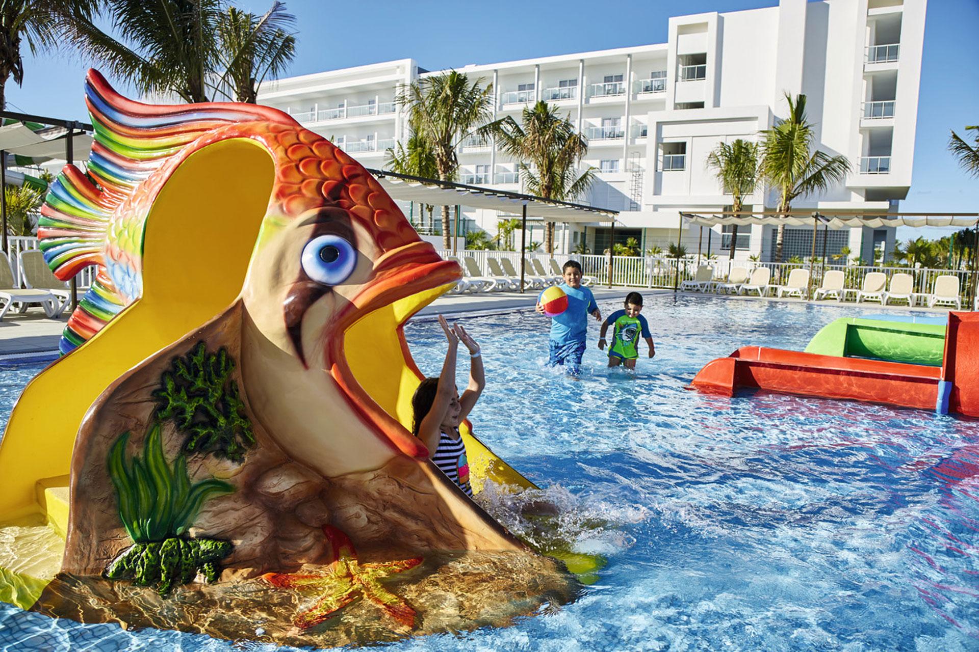 Kids' Pool at Hotel Riu Dunamar in Cancun, Mexico; Courtesy of Hotel Riu Dunamar