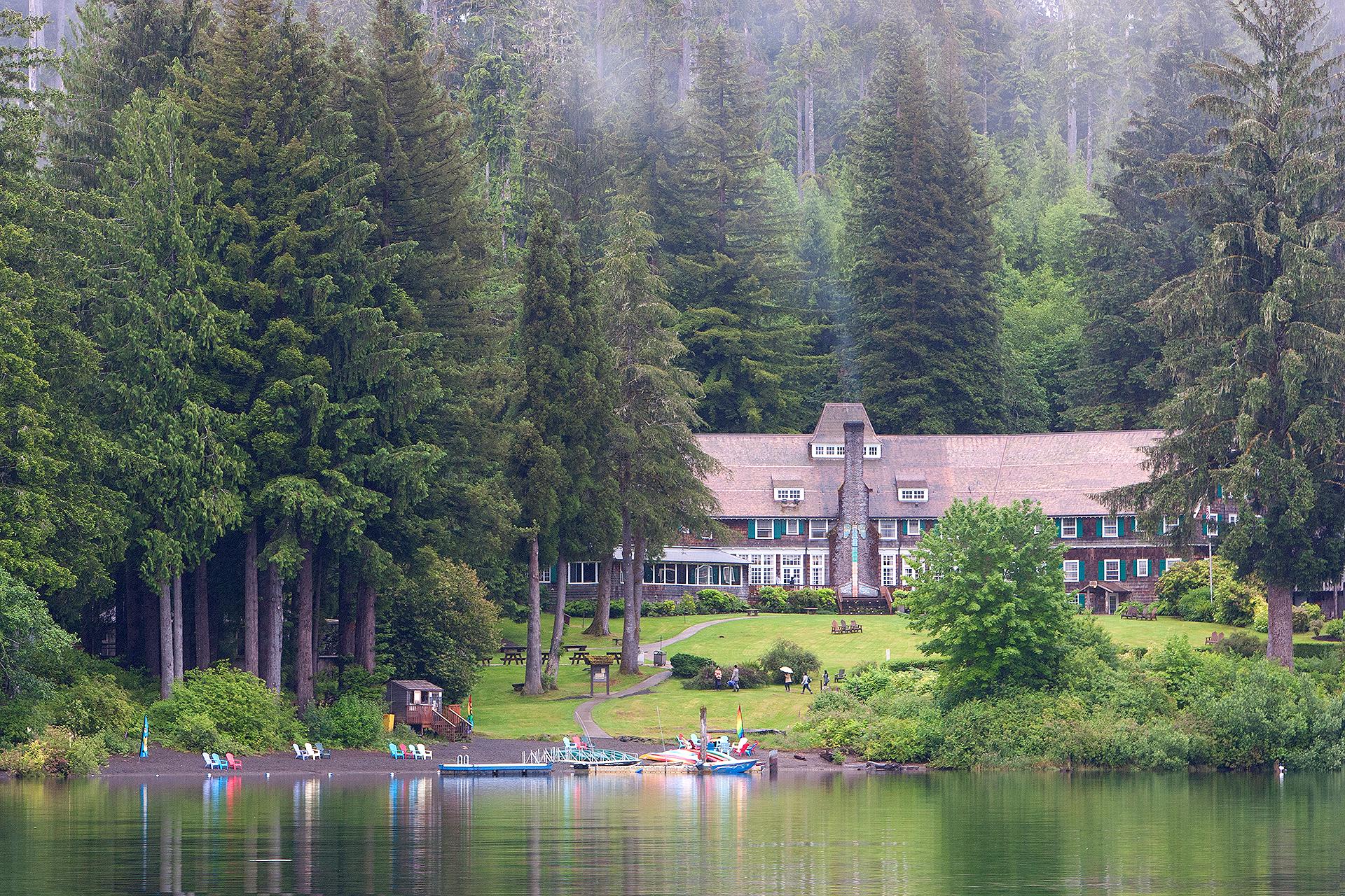 Lake Quinalt Lodge in Olympic National Park; Courtesy of Lake Quinalt Lodge