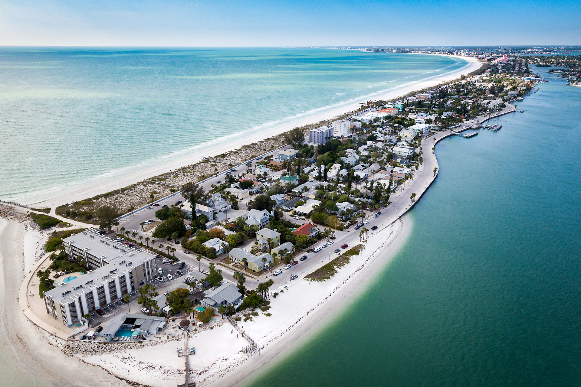 Aerial View of Pass-a-Grille, Florida; Courtesy of Kevin J King/Shutterstock.com