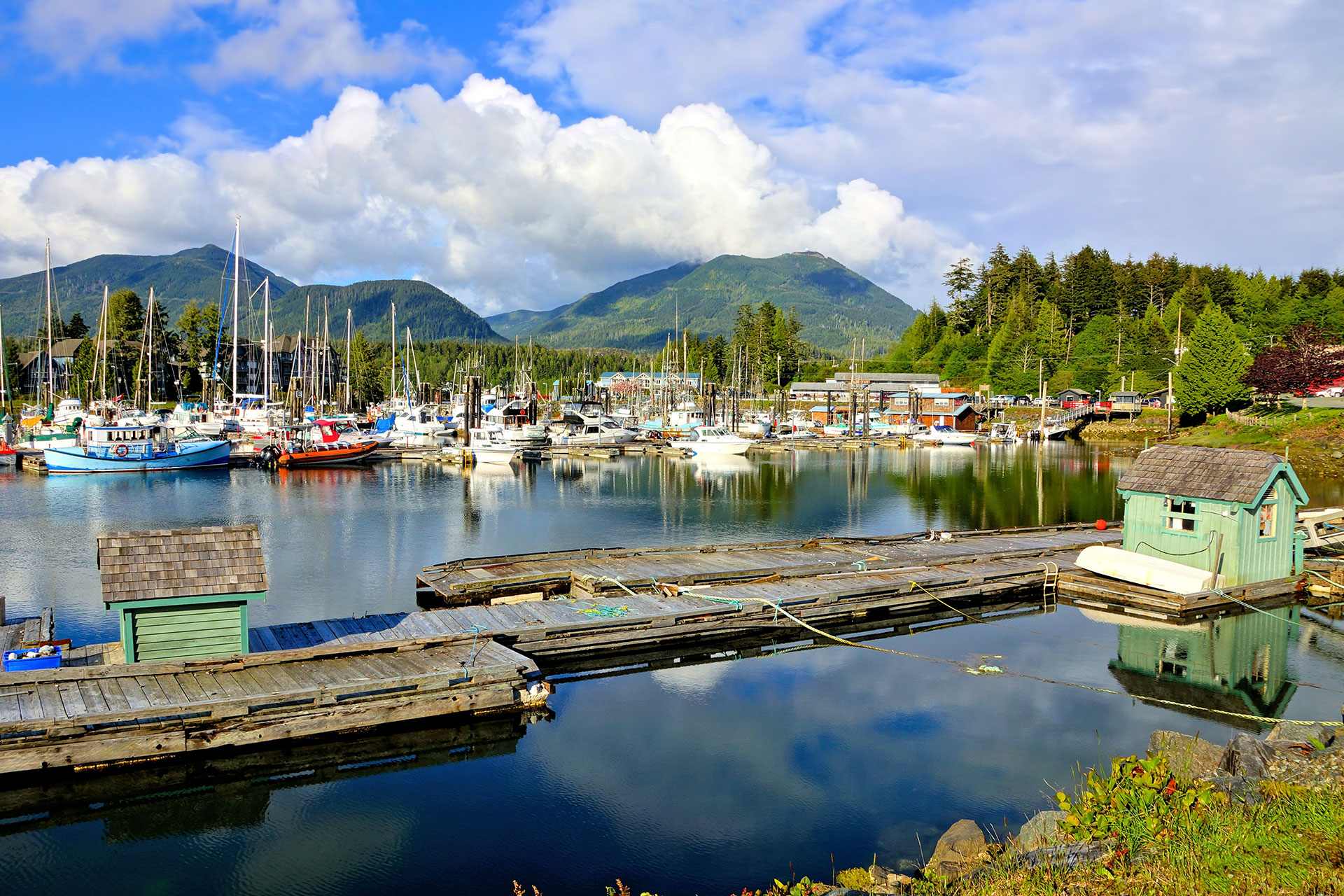 Ucluelet Harbor in Vancouver Island; Courtesy of JeniFoto/Shutterstock.com