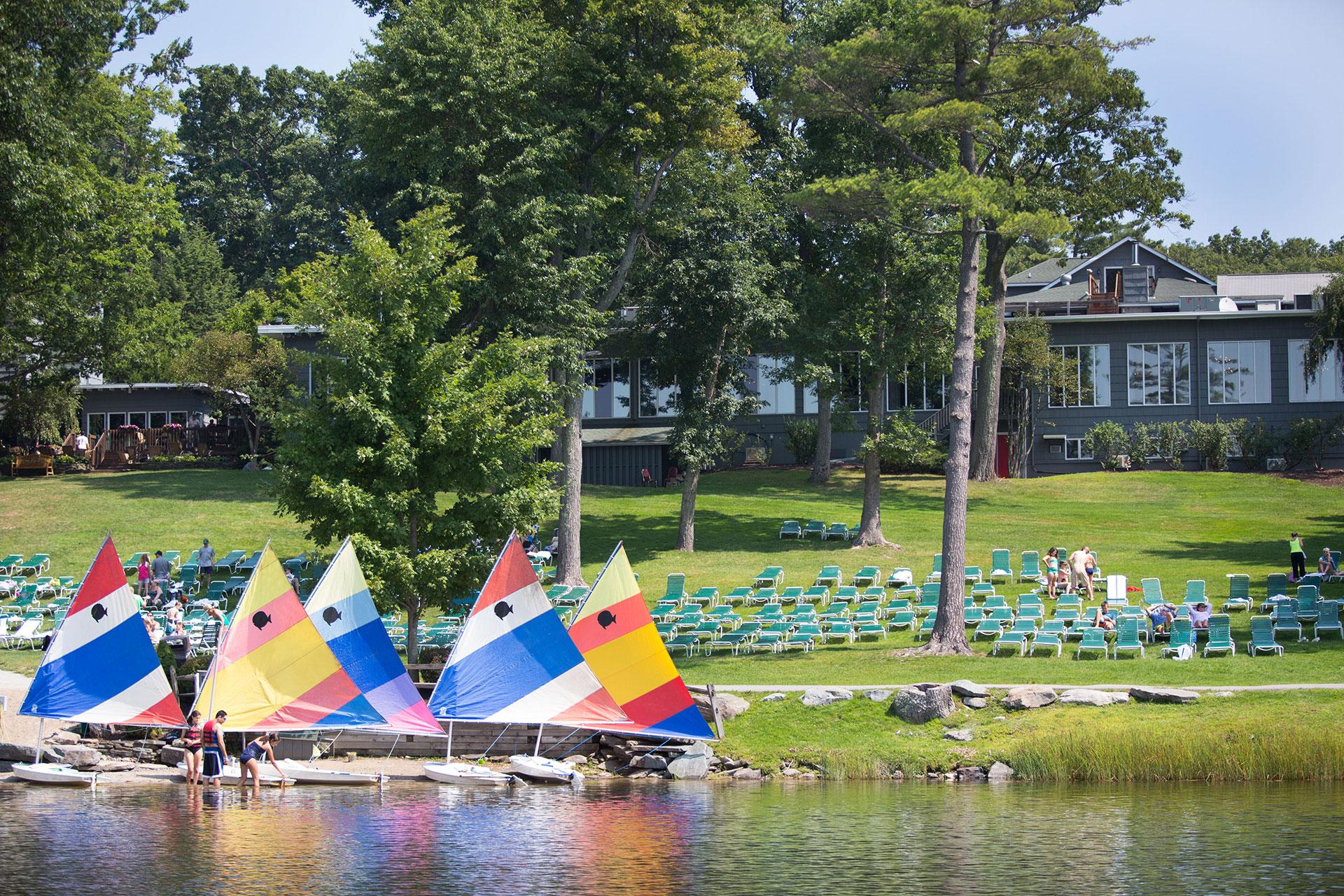 Sailboats at Woodloch Pines in the Poconos; Courtesy of Andrea Killam Photography