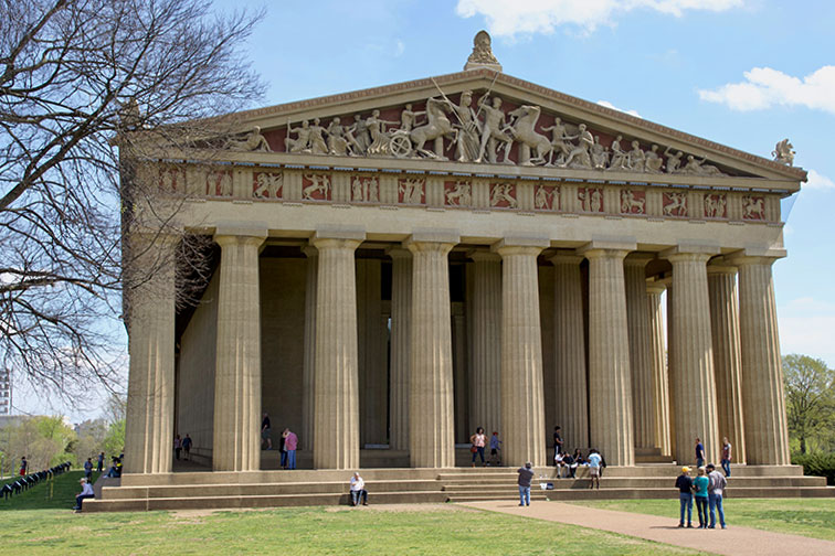 The Parthenon in Nashville Tennessee; Courtesy of DimplePatel/Shutterstock