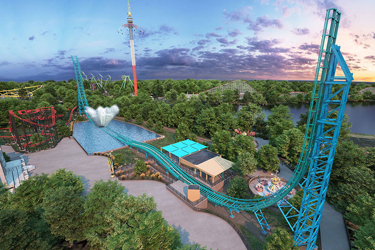 Aquaman Power Wave at Six Flags Over Texas