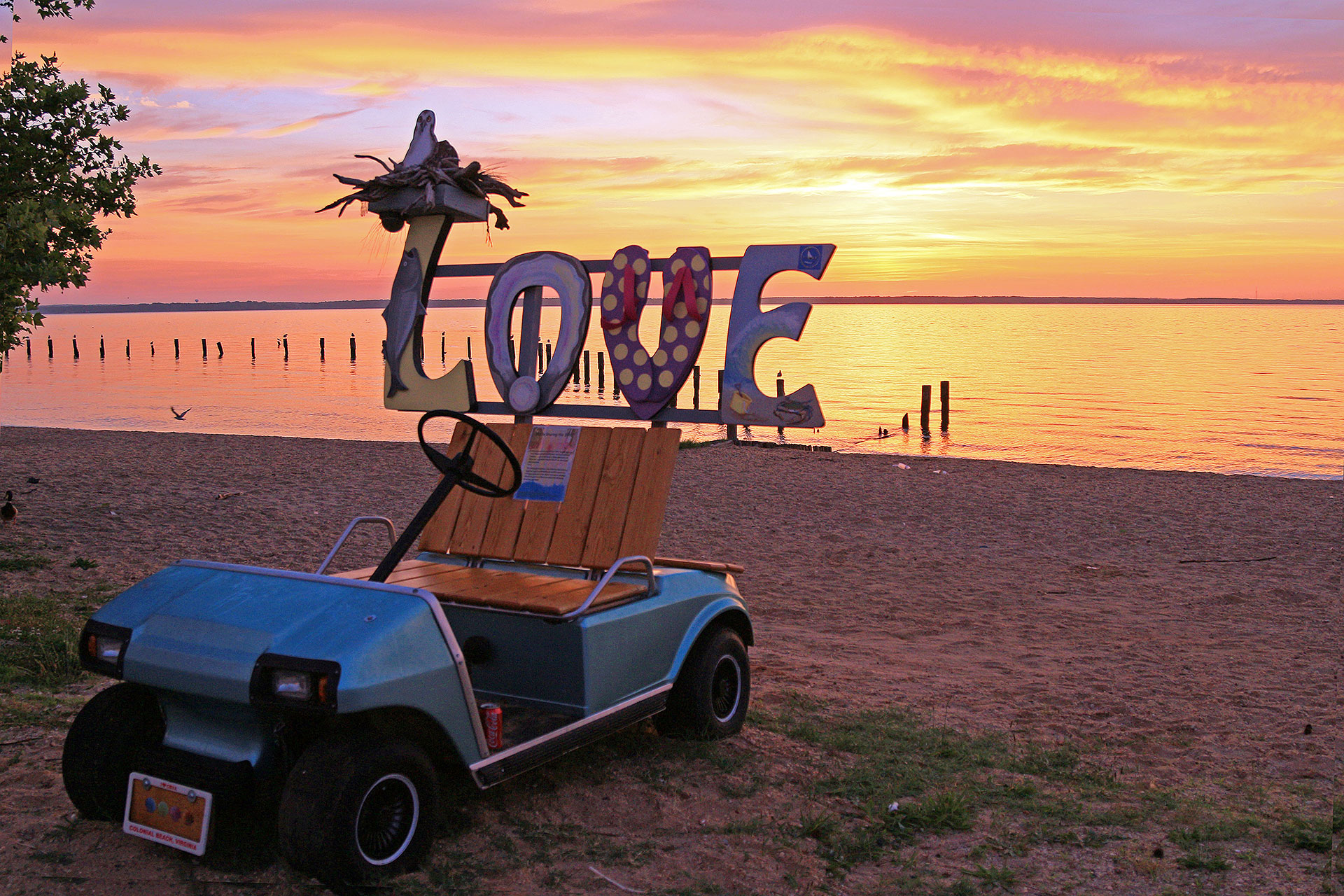 Colonial Beach, Virginia, at Sunset; Courtesy of Mary Carter