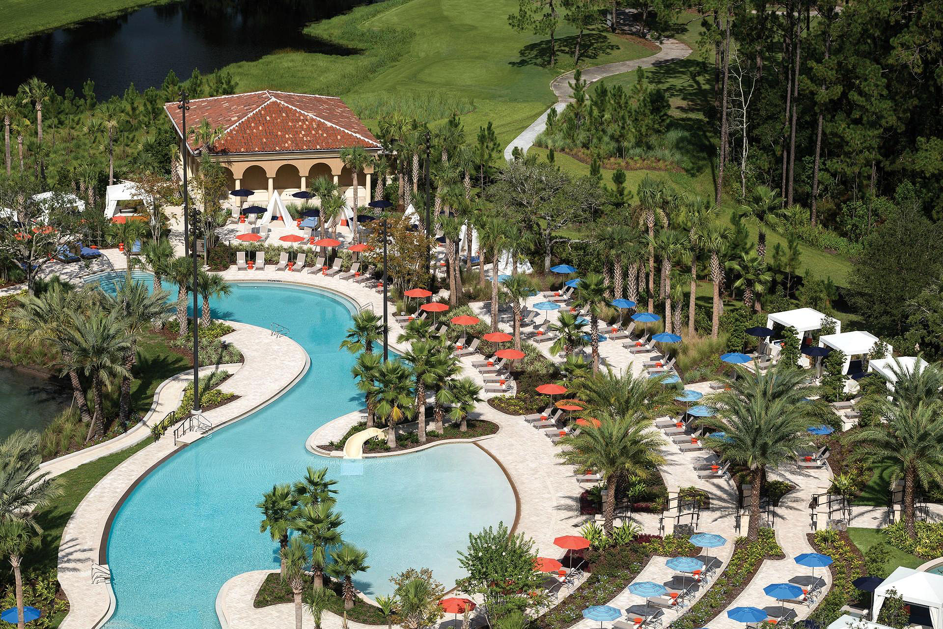 Aerial View of Four Seasons Resort Orlando at Walt Disney World; Courtesy of Four Seasons Resort Orlando at Walt Disney World