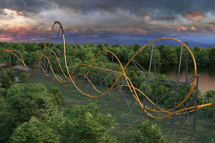 Rendering of Jersey Devil Rollercoaster at Six Flags Great Adventure in New Jersey