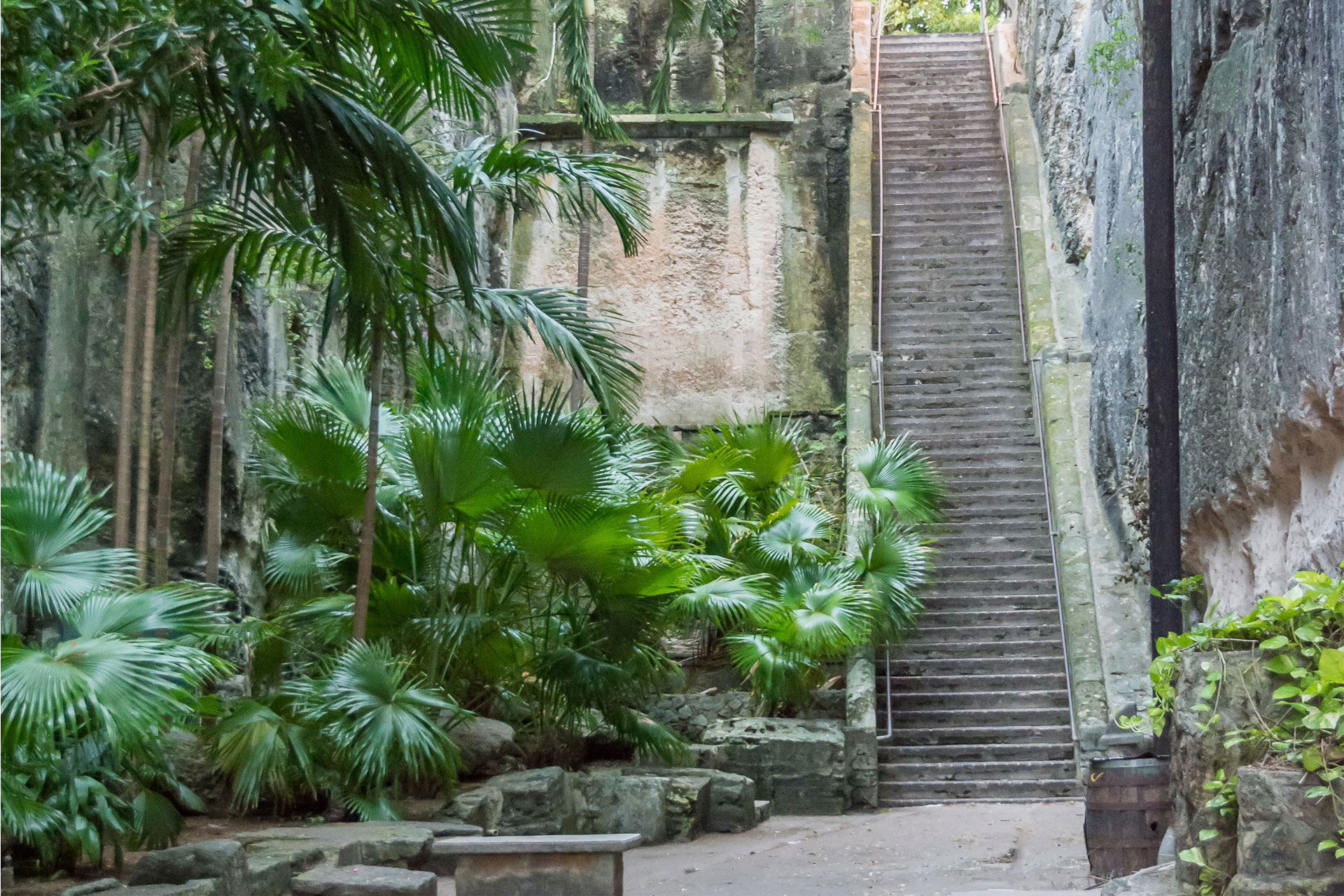 Queens Staircase in Nassau, Bahamas; Courtesy of dnaveh/Shutterstock.com