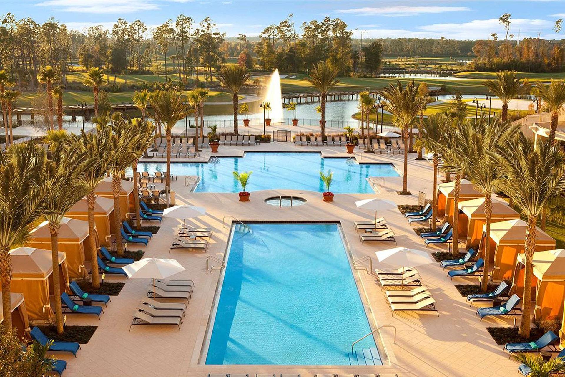 Aerial View of Waldorf Astoria Orlando; Courtesy of Waldorf Astoria Orlando