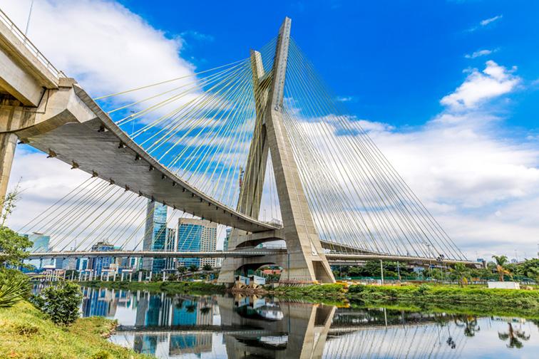 Estaiada Bridge in Sao Paulo, Brazil; Courtesy of ESB Professional/Shutterstock