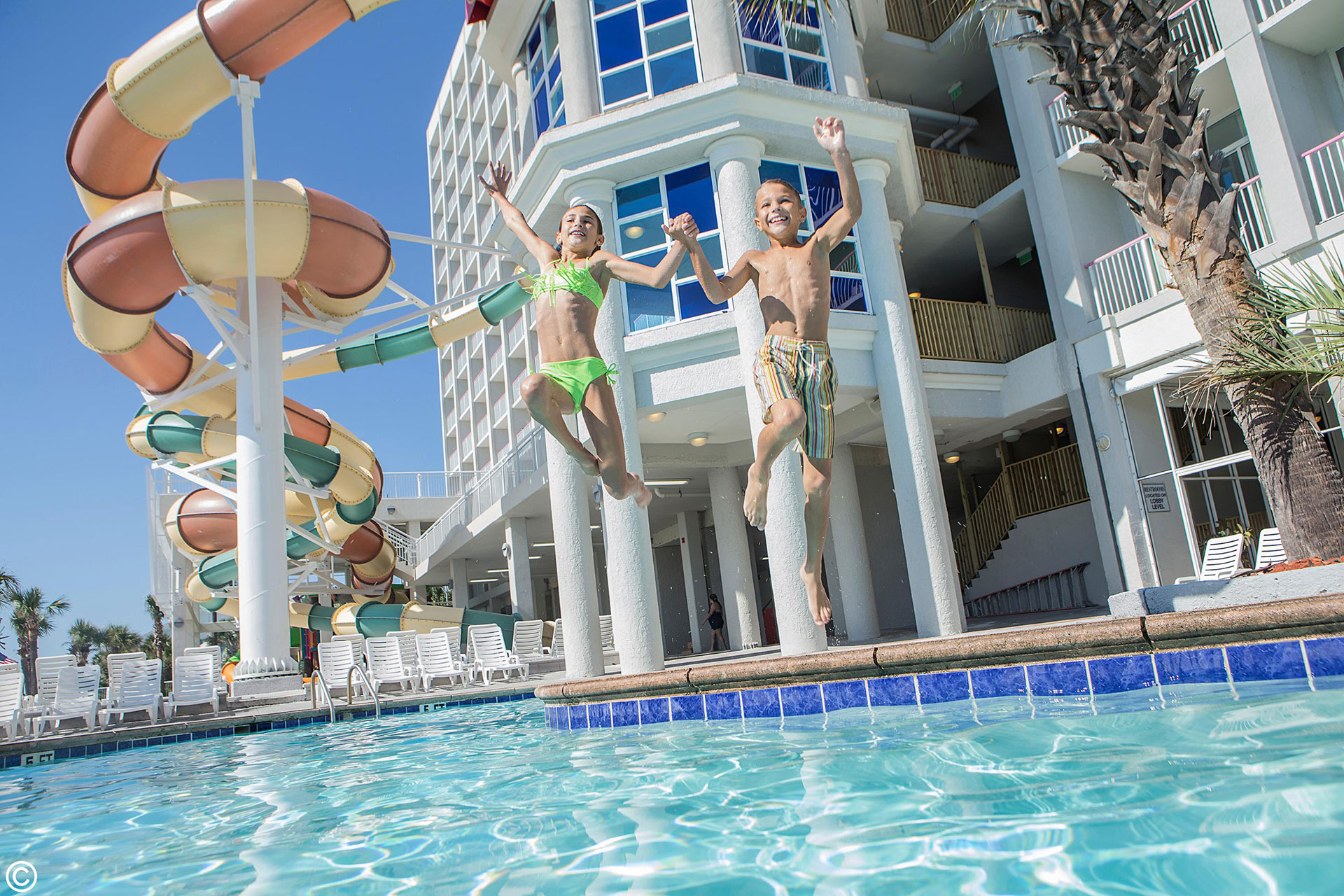 Crown Reef Resort and Waterpark in Myrtle Beach, South Carolina; Courtesy of Crown Reef Resort and Waterpark