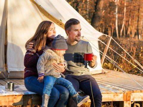 Family Glamping; Courtesy of Dmitry Zimin/Shutterstock.com