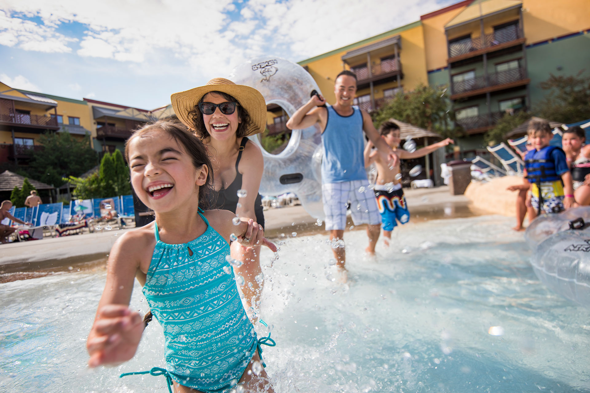 Outdoor Water Park at Kalahari Resort in Wisconsin Dells; Courtesy of Wisconsin Dells Visitor & Convention Bureau