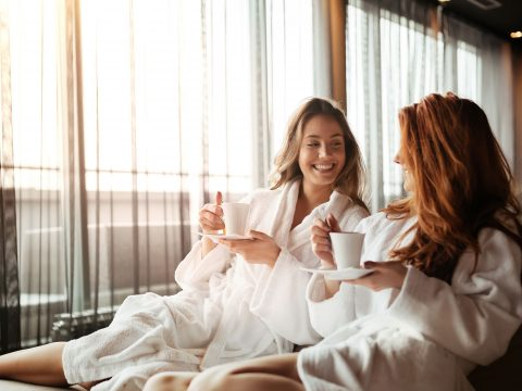 Two Women Relaxing at the Spa; Courtesy of nd3000/Shutterstock.com