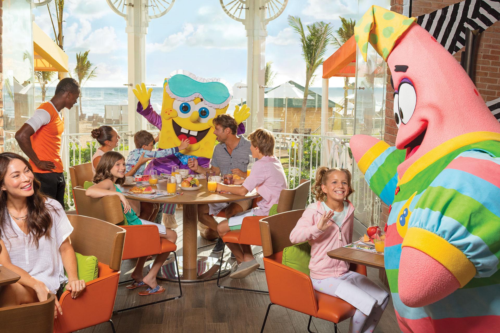 Kids at Character Breakfast at Nickelodeon Hotels & Resorts Punta Cana; Courtesy of Nickelodeon Hotels & Resorts Punta Cana