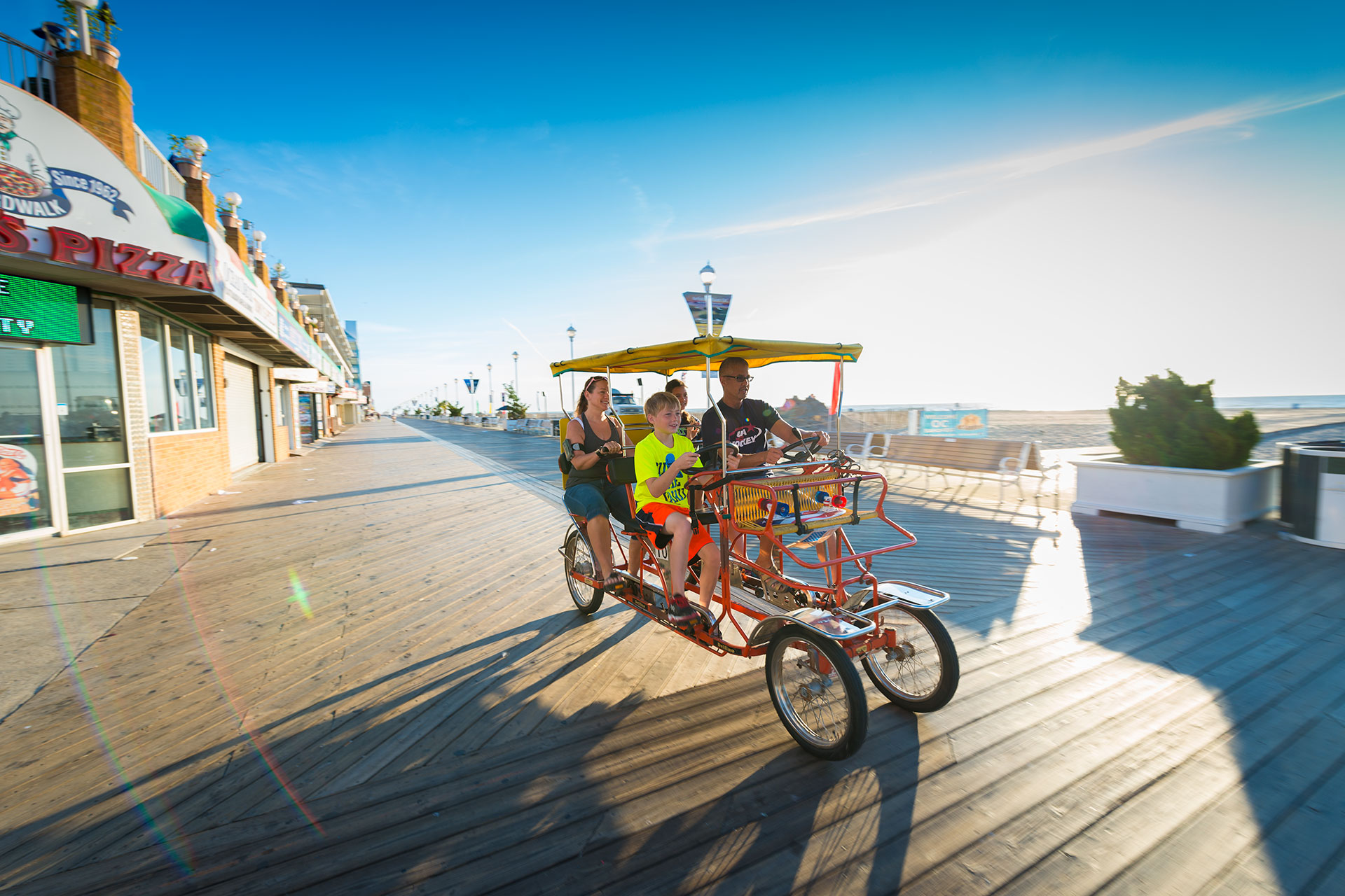 Family on Surry Ride in Ocean City, Maryland