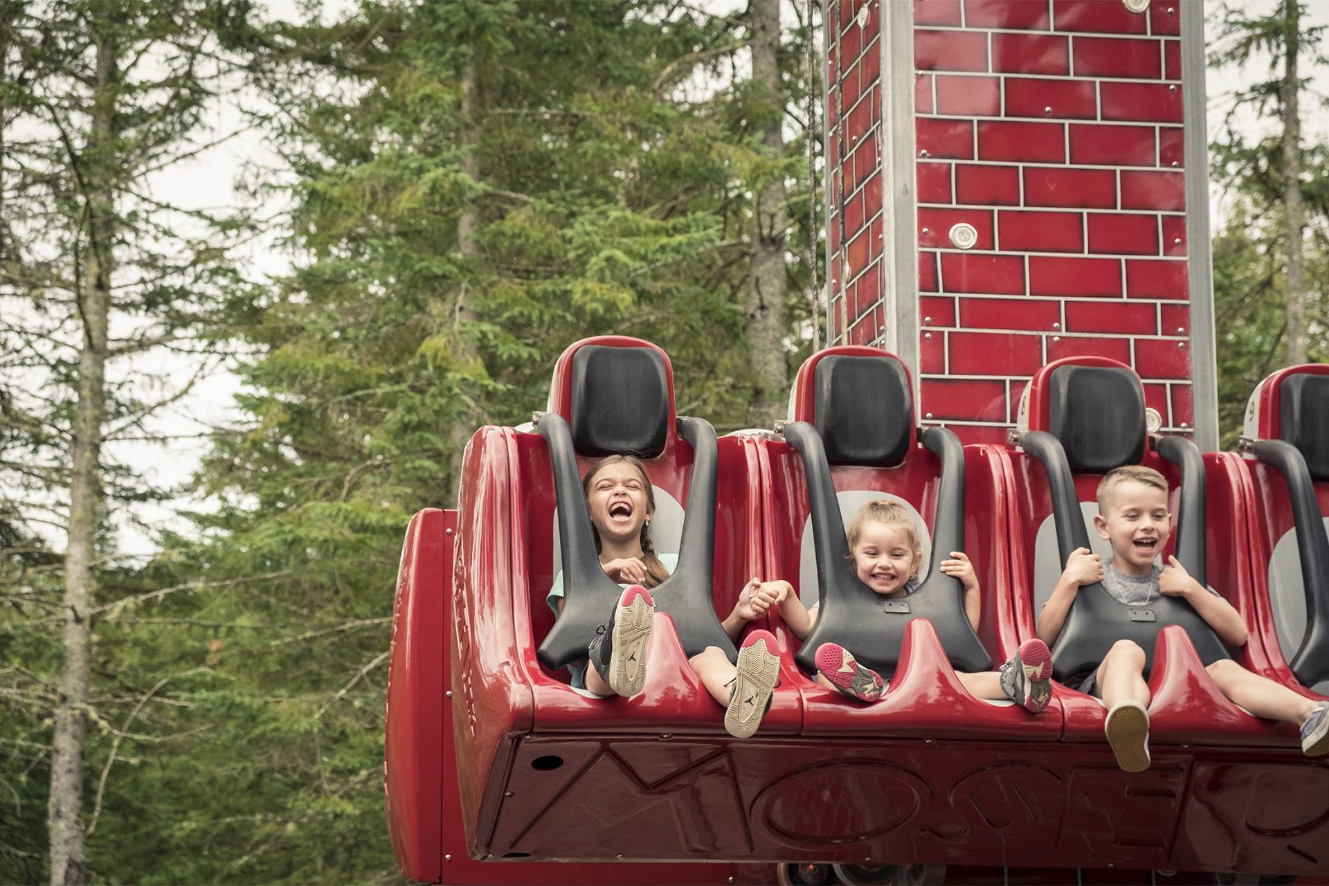 Chimney Drop Ride at Santa's Village in New Hampshire; Courtesy of Santa's Village