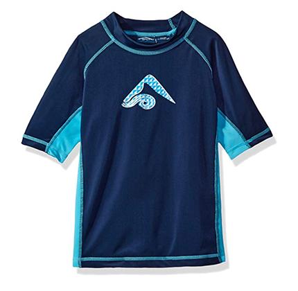 Blue rash guard top for boys