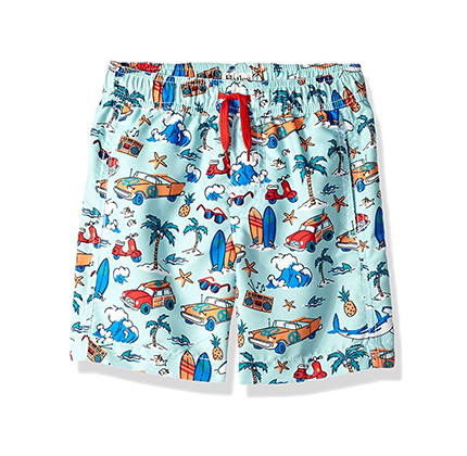Print swim trunks for boys