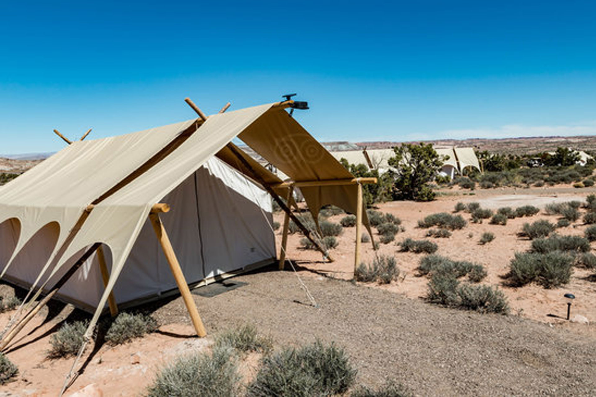 Tents at Under Canvas Moab; Courtesy of Under Canvas Moab