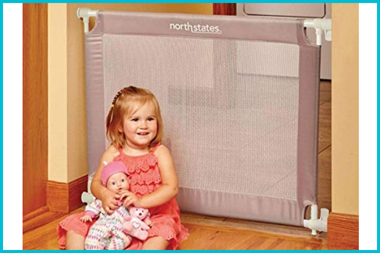 Portable Baby Gate; Courtesy of Amazon