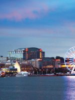 A View of National Harbor at Dusk; Courtesy of National Harbor