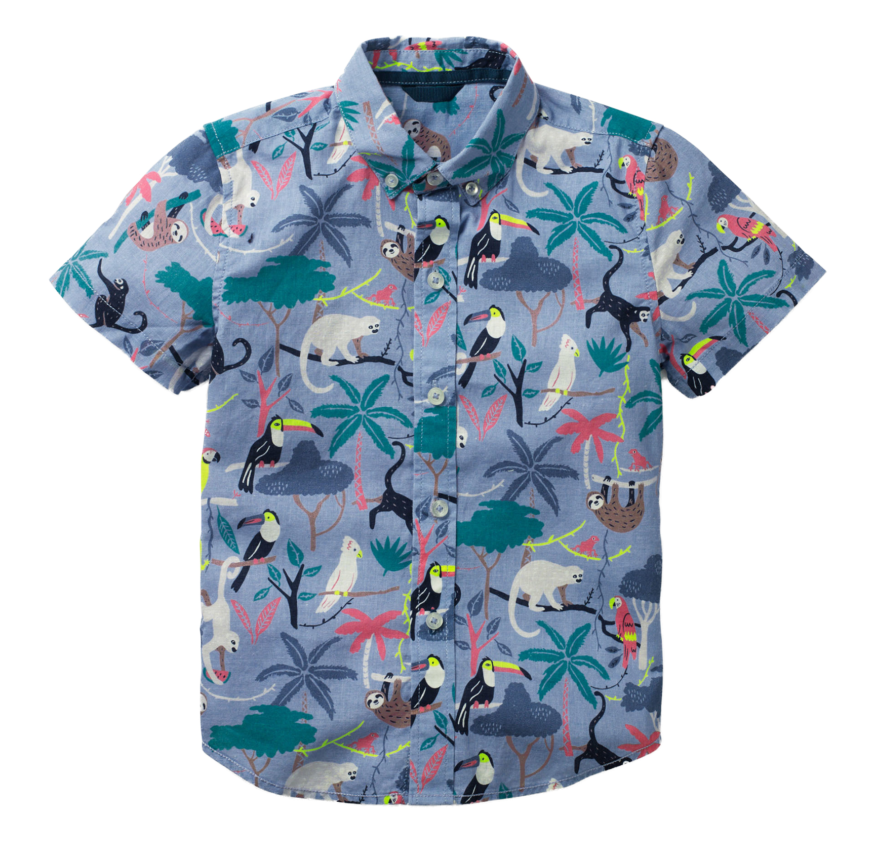 Caribbean Blue Tower Tee for Kids