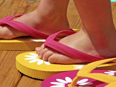 Kids In Flip Flops; Courtesy of Cheryl Casey/Shutterstock.com