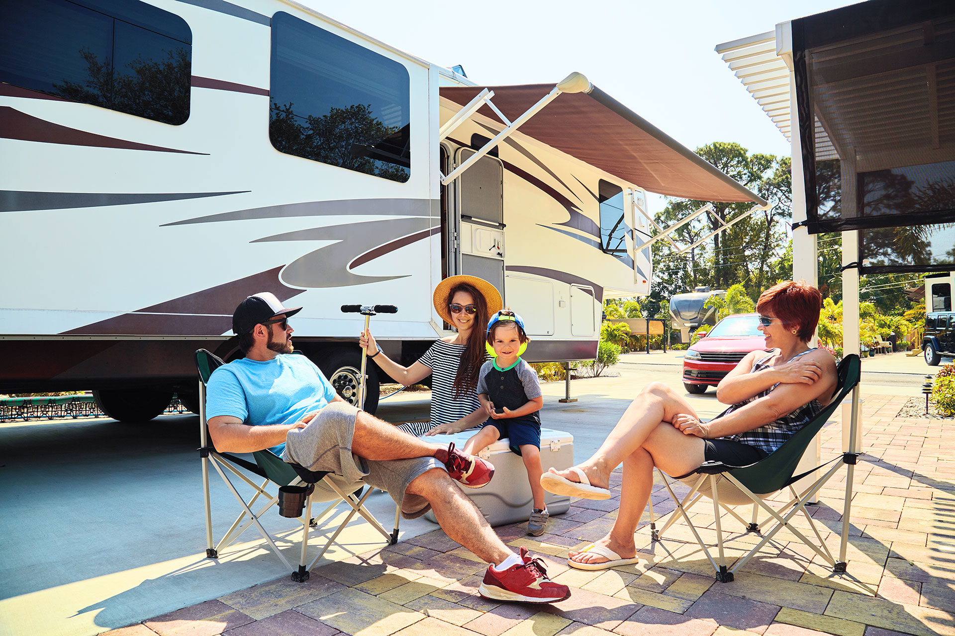 Family With RV; Courtesy of Lazor/Shutterstock.com