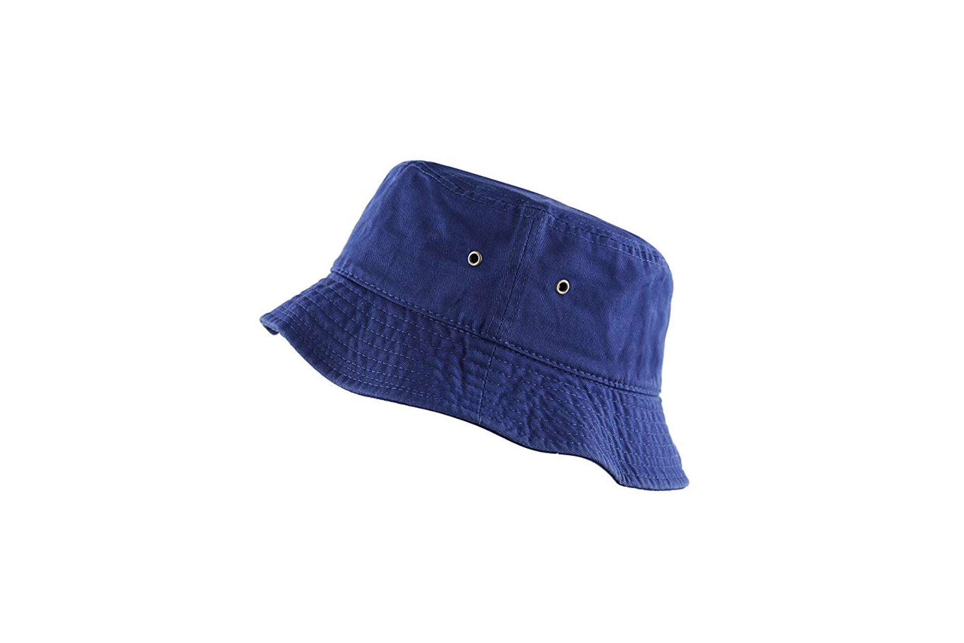 THE HAT DEPOT Bucket Travel Cap in Blue; Courtesy of Amazon