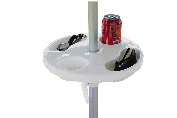 Beach Umbrella Table; Courtesy of Amazon