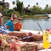 Family at Universal's Royal Pacific Resort; Courtesy of Universal Orlando Resort