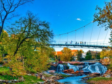 Downtown Greenville, South Carolina; Courtesy of VisitGreenvilleSC