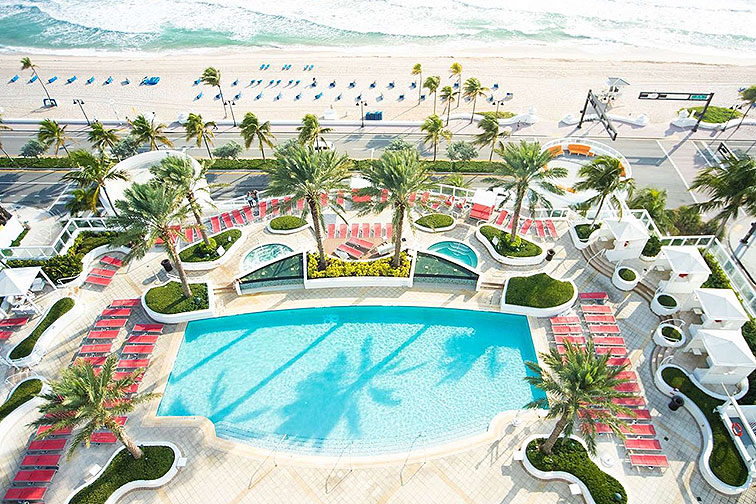 Aerial View of Hilton Fort Lauderdale Beach Resort